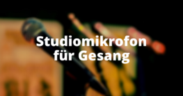 Studiomikrofon für Gesang
